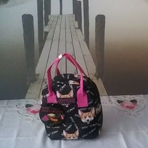 Betsey Johnson Corgi Lunch Tote. NWOT